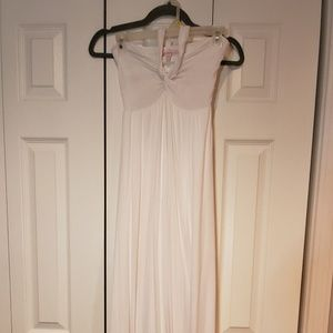 Victoria's Secret White Maxi Halter Dress
